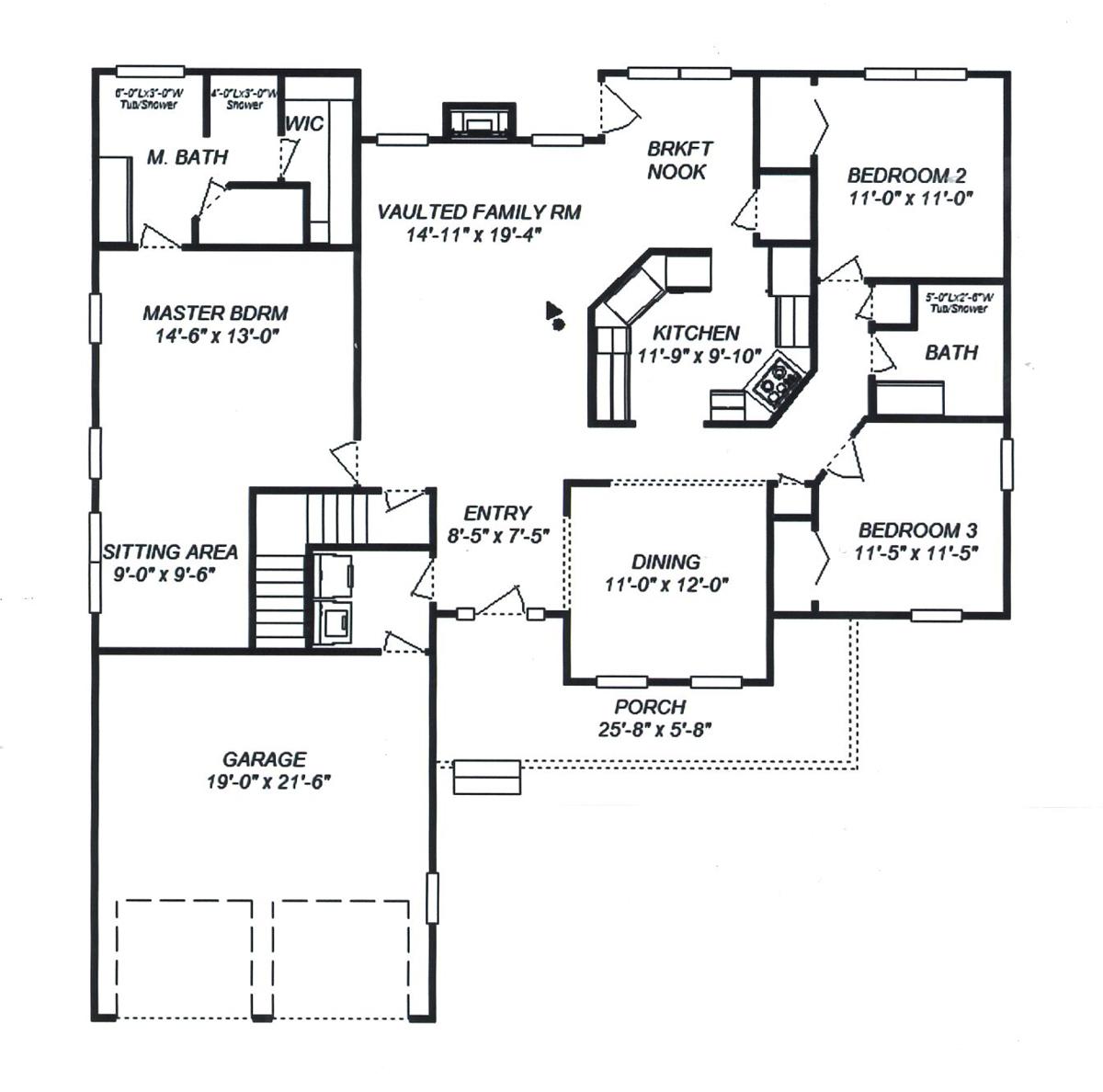 Woodside Homes Floor Plans Crystal Robert K Ace Jr Construction