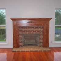 Wood & Brick Fireplace