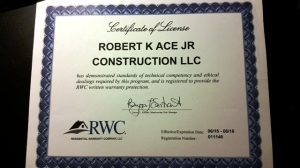 RWC License Certification for RKA Construction