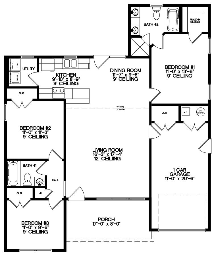 The Deerfield Floor Plan