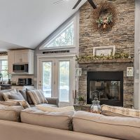 Living Room and Kitchen Home Interior