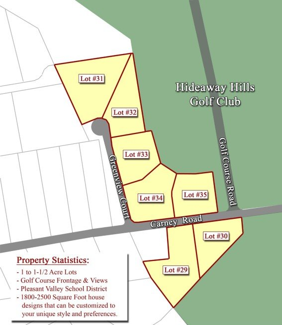 Hideaway Hills Development Map