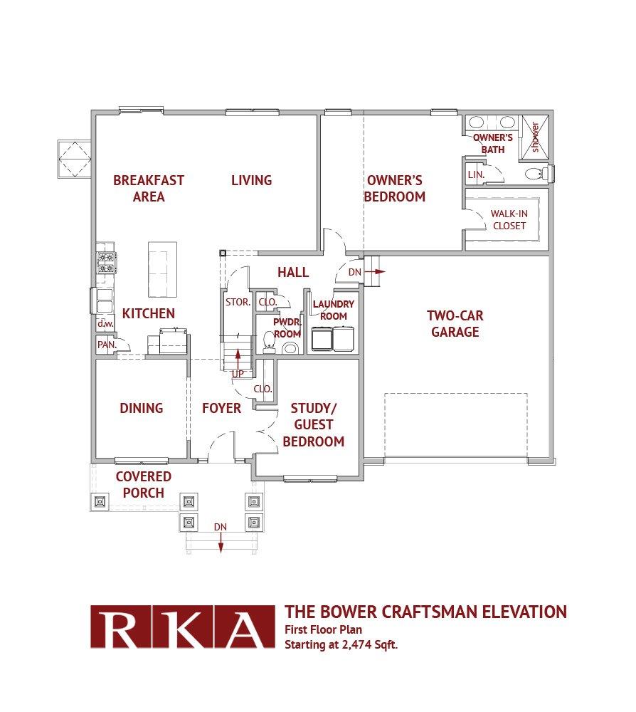 Hideaway Hills Bower III 1st Floor Plan