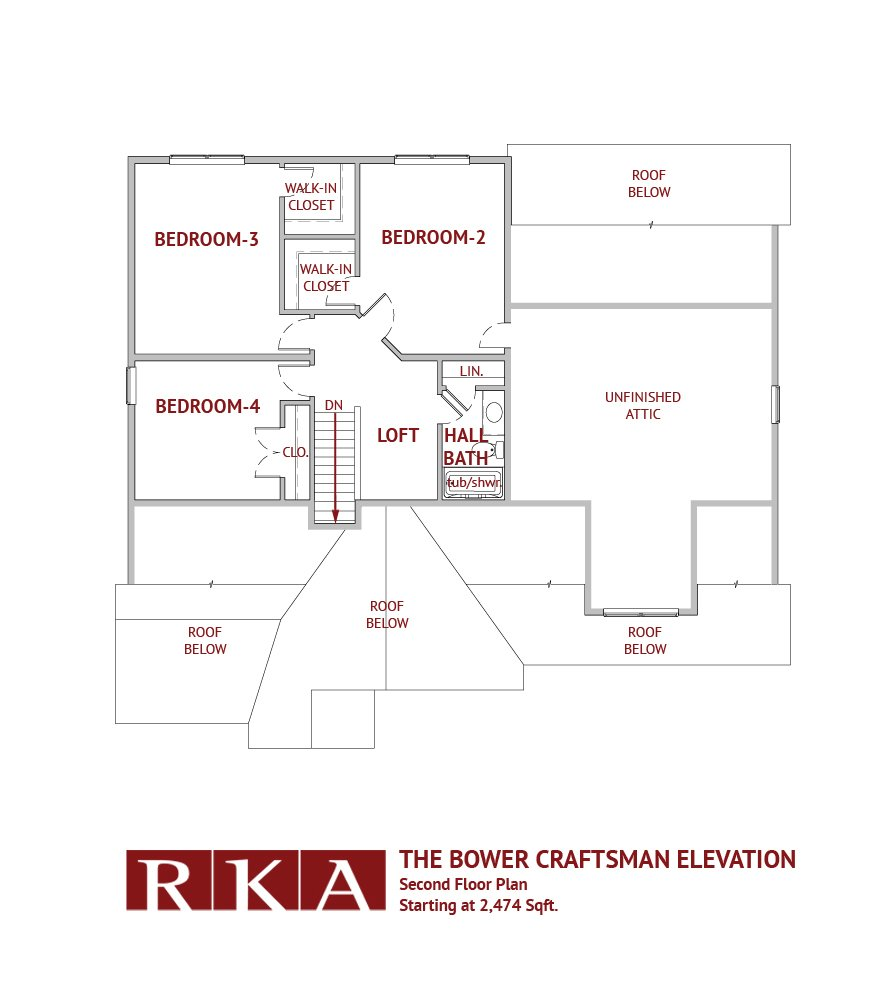 Hideaway Hills Bower III 2nd Floor Plan
