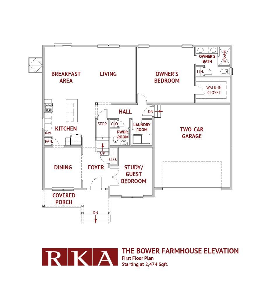 Hideaway Hills Bower II 1st Floor Plan