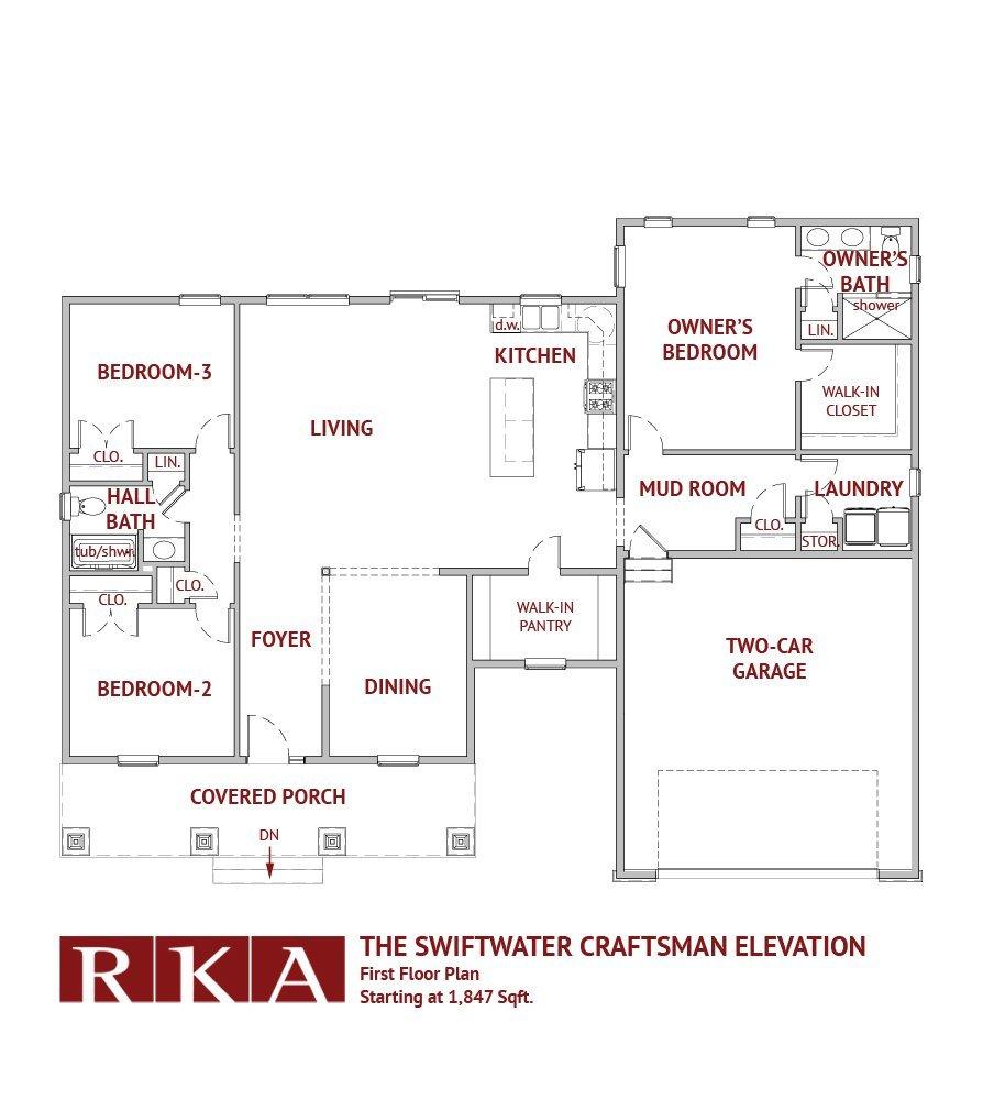 Hideaway Hills Swiftwater III 1st Floor Plan