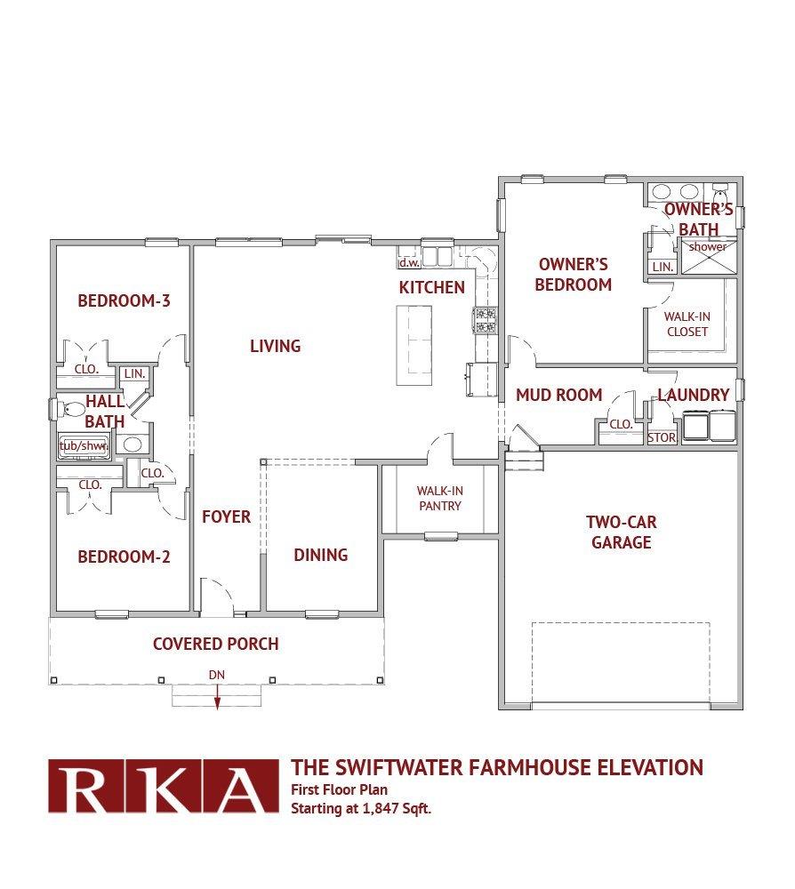 Hideaway Hills Swiftwater II 1st Floor Plan