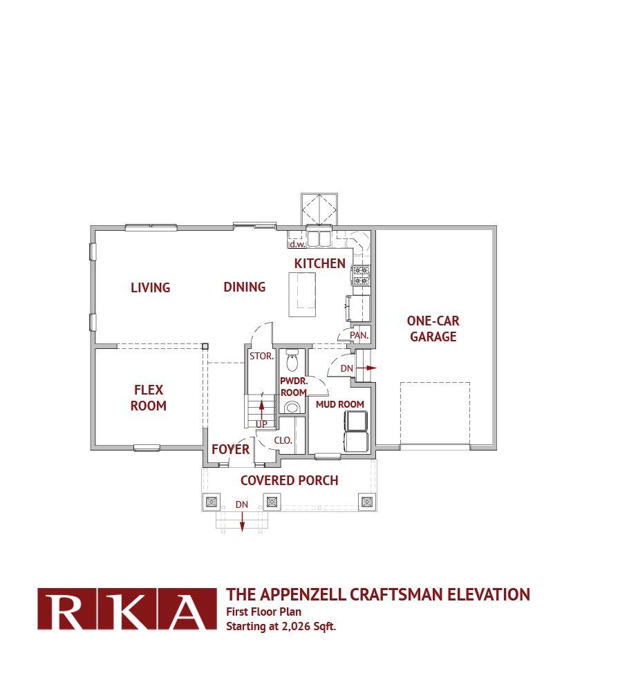 Hideaway Hills Apenzell III 1st Floor Plan