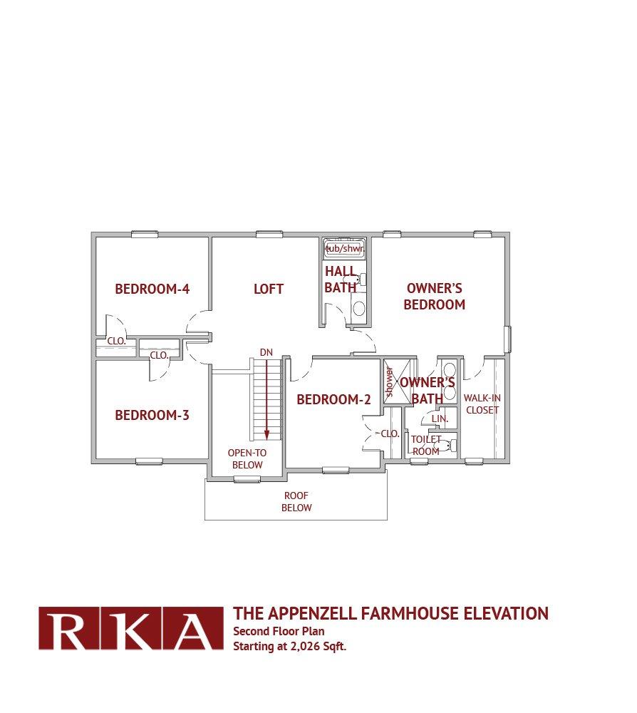 Hideaway Hills Apenzell II 2nd Floor Plan
