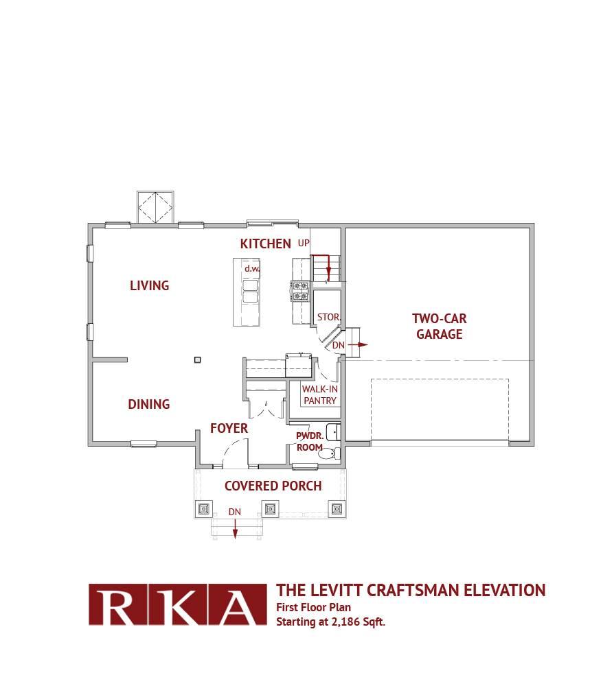 Hideaway Hills Levitt III 1st Floor Plan