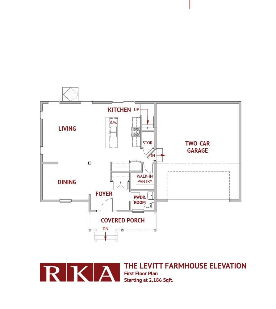 Hideaway Hills Bower II Home Design1st Floor Plan