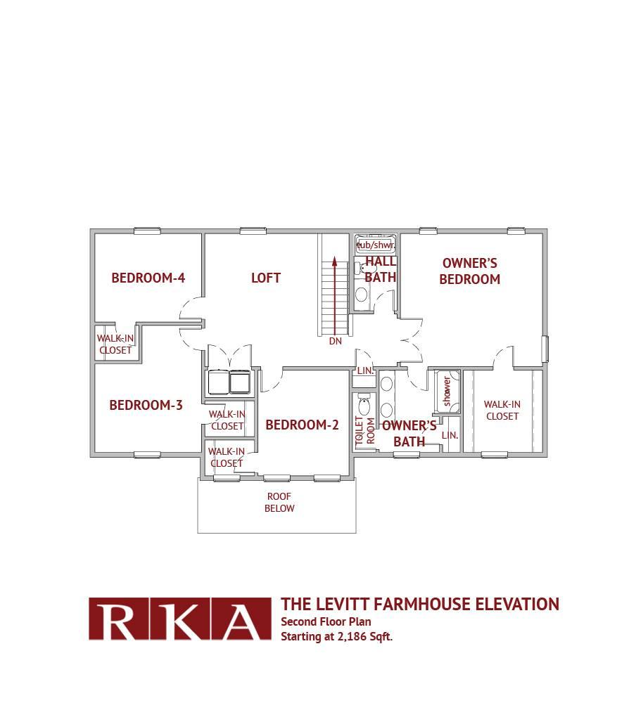 Hideaway Hills Levitt II 2nd Floor Plan