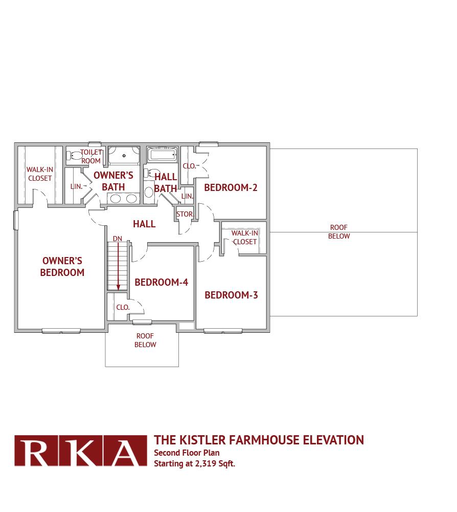 Hideaway Hills Kistler III 2nd Floor Plan