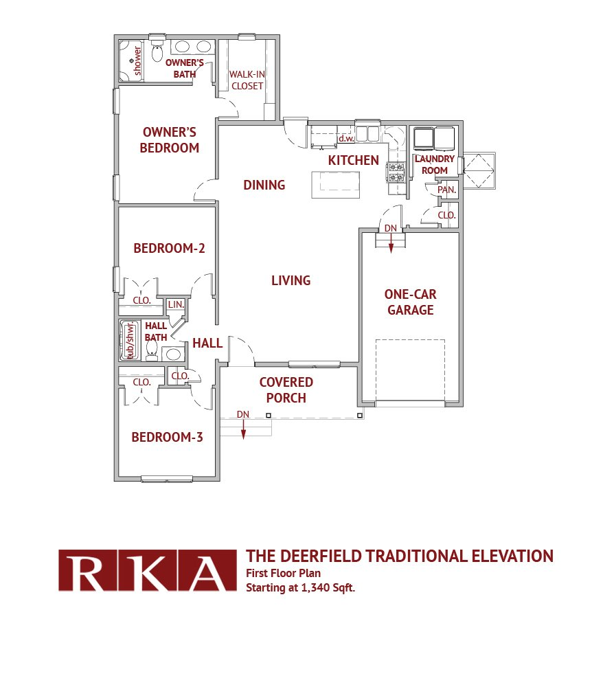 The Deerfield Home Design 1st Floor Plan