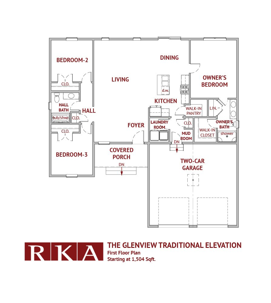 The Glenview Home Design 1st Floor Plan
