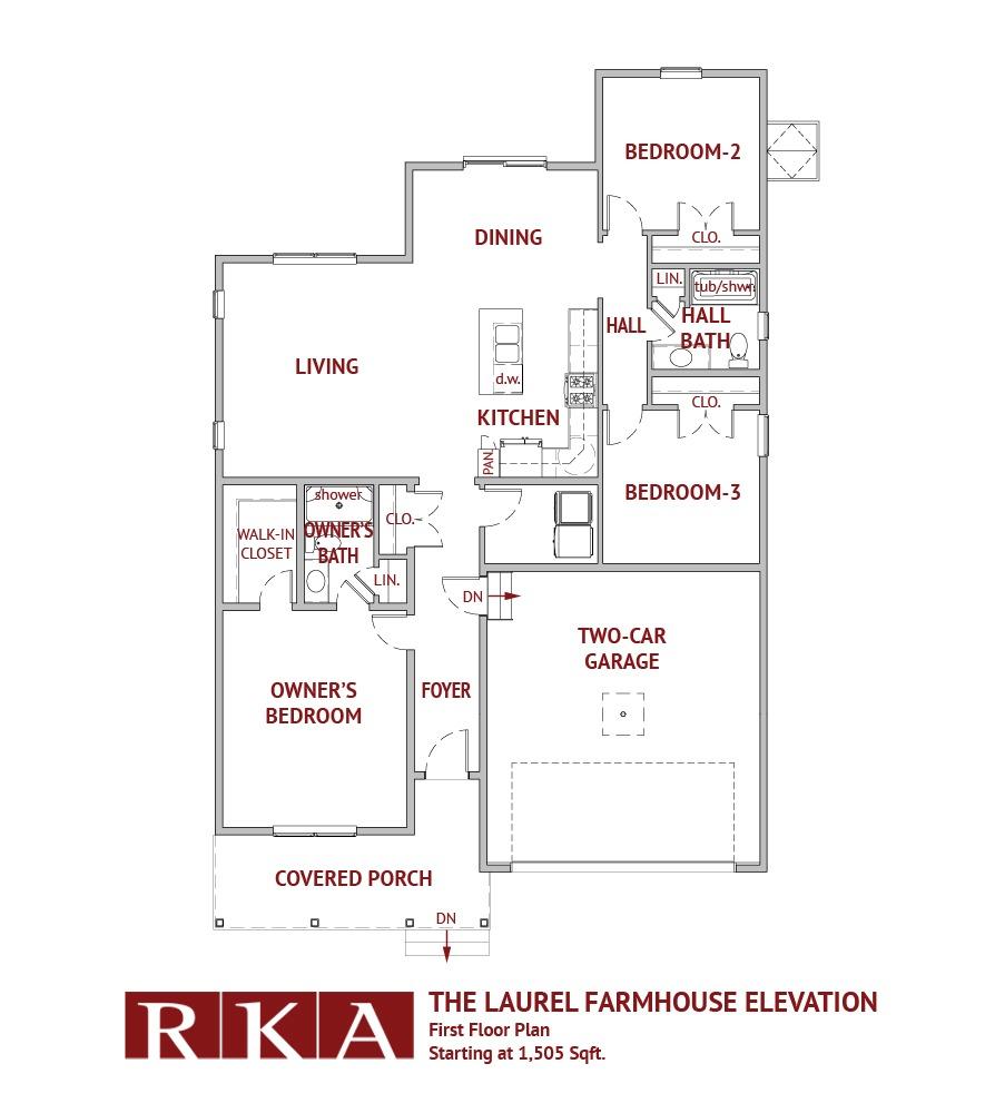 The Laurel Home Design 1st Floor Plan