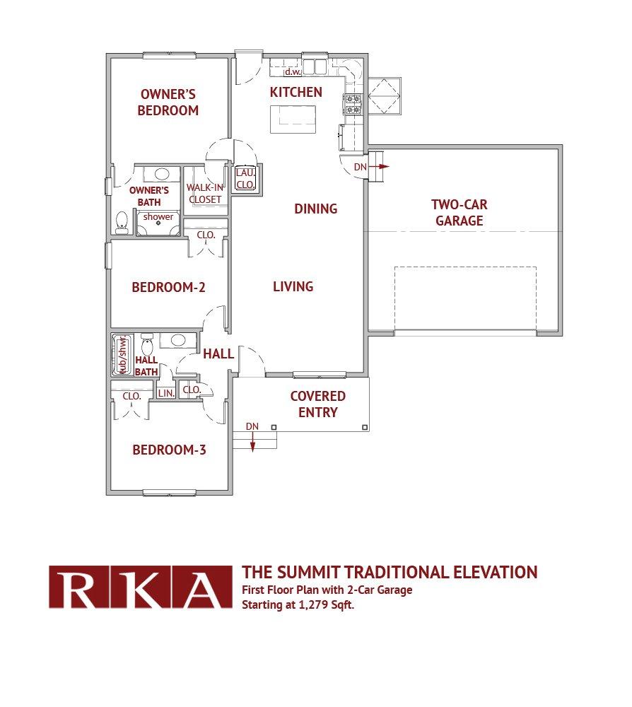 The Summit Home Design 1st Floor Plan