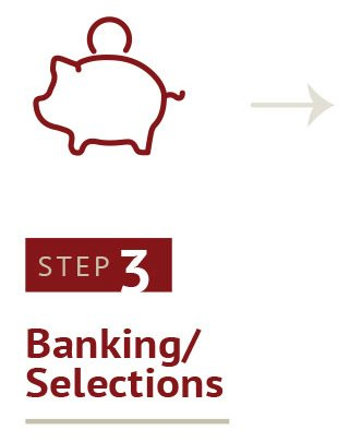 Step 3 Banking Selections