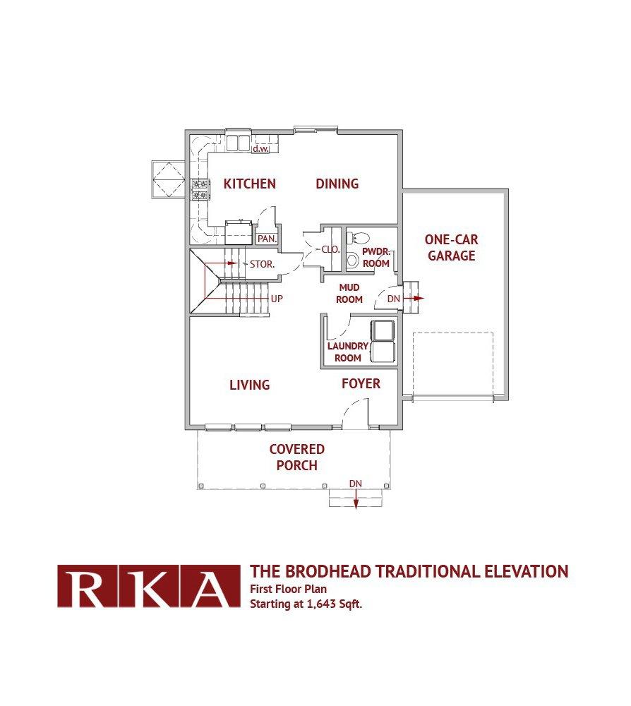 The Brodhead Home Design 1st Floor Plan
