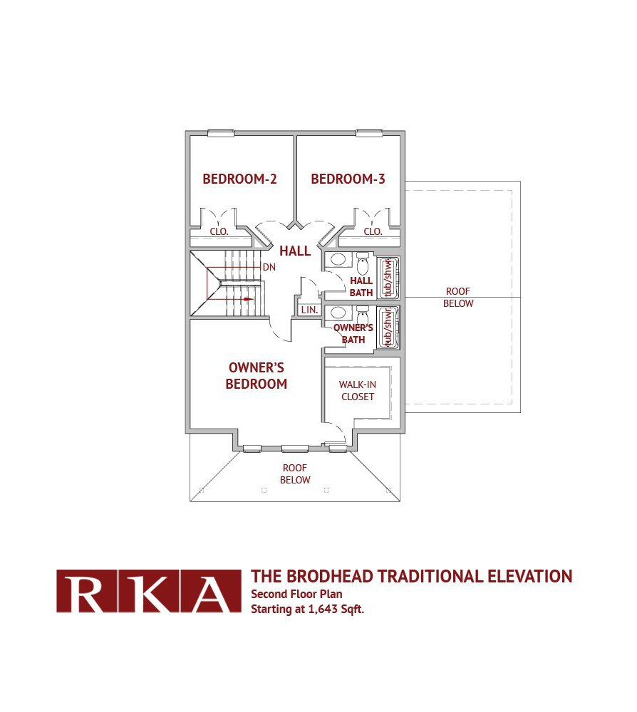 The Brodhead Home Design 2nd Floor Plan