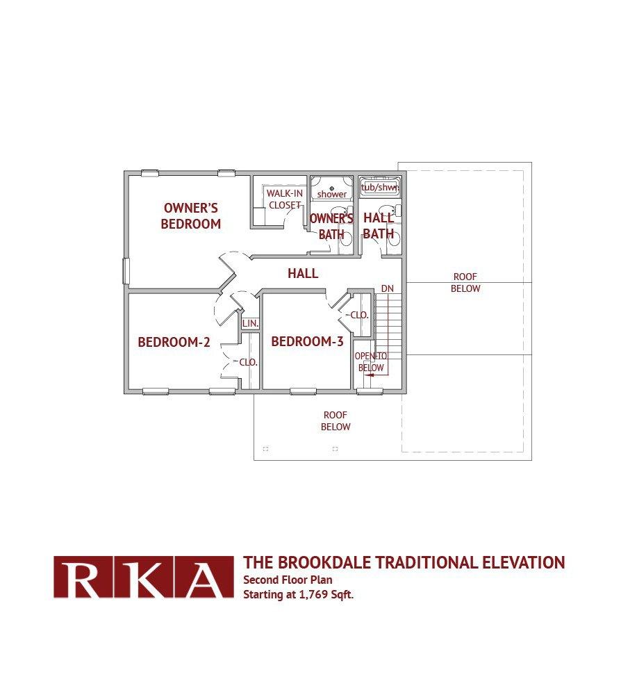 The Brookdale Home Design 2nd FLoor Plan
