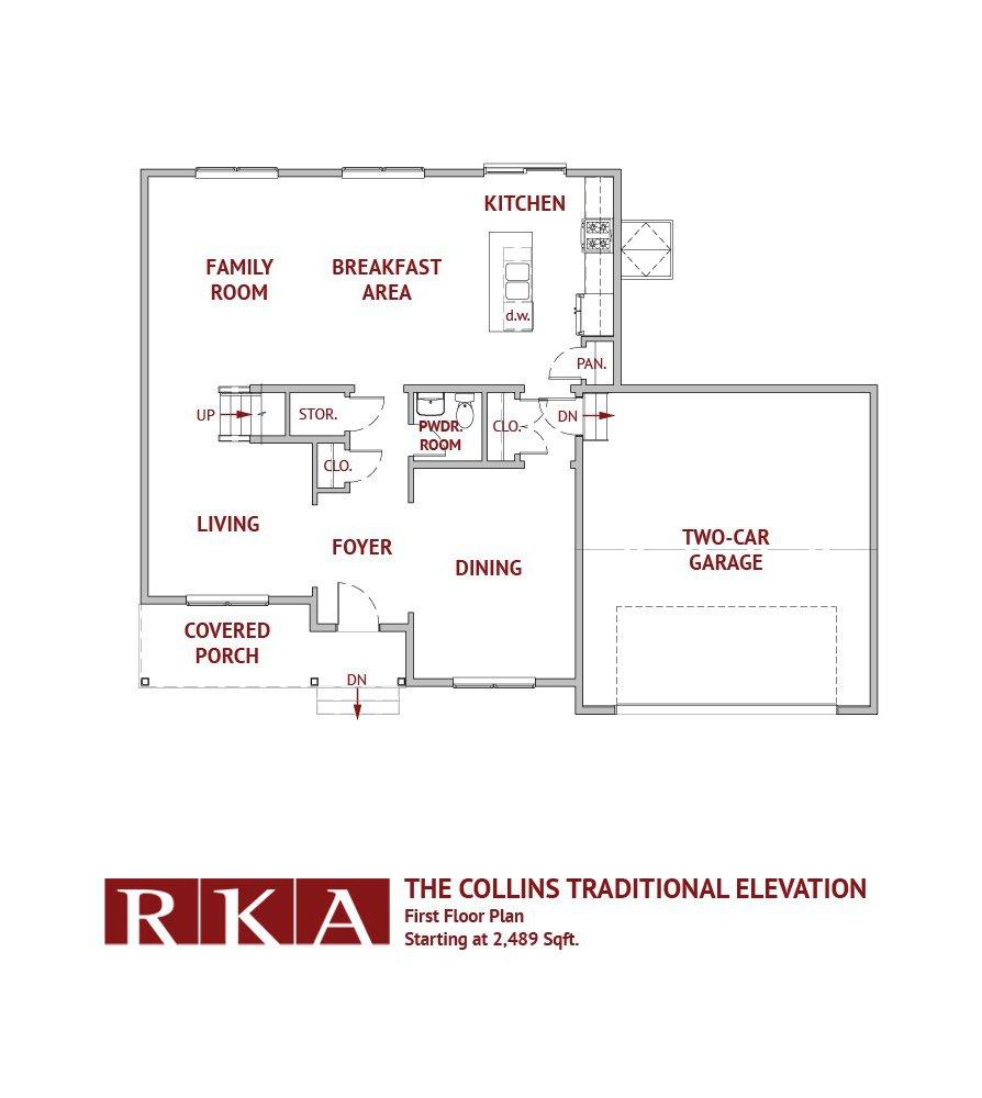 The Collins Home Design 1st Floor Plan