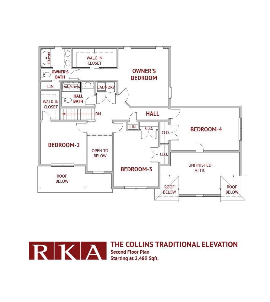 The Collins Home Design 2nd Floor Plan