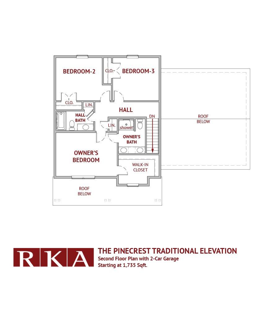 The Pinecrest Home Design 2nd Floor Plan