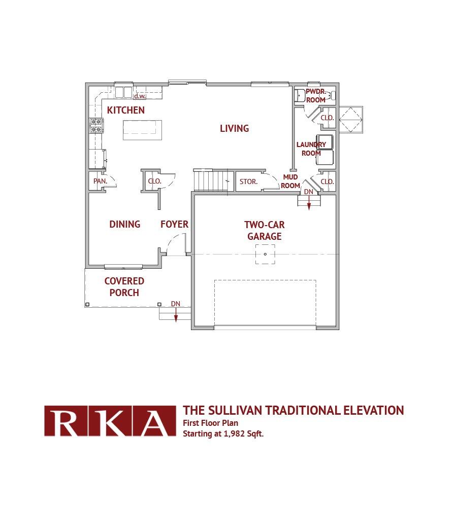 The Sullivan Home Design 1st Floor Plan