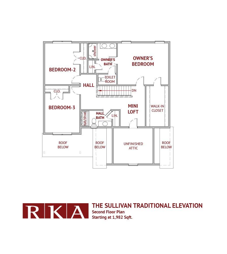 The Sullivan Home Design 2nd Floor Plan