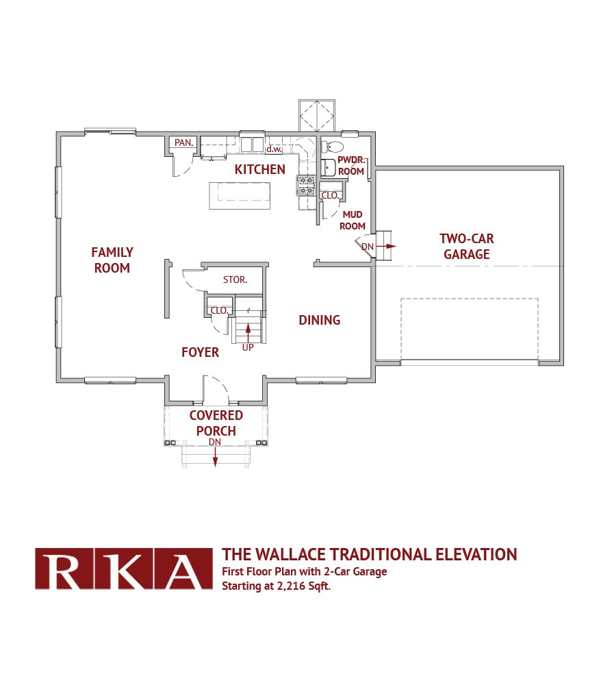 The Wallace Home Design 1st Floor Plan