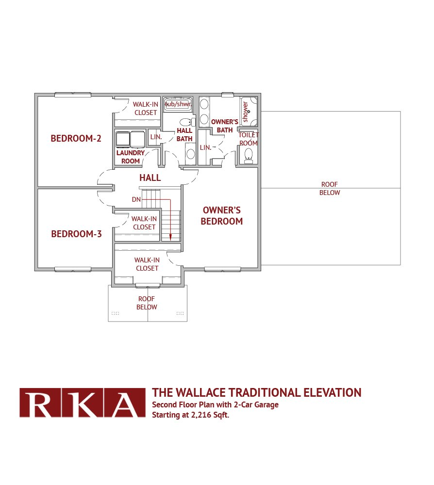 The Wallace Home Design 2nd Floor Plan