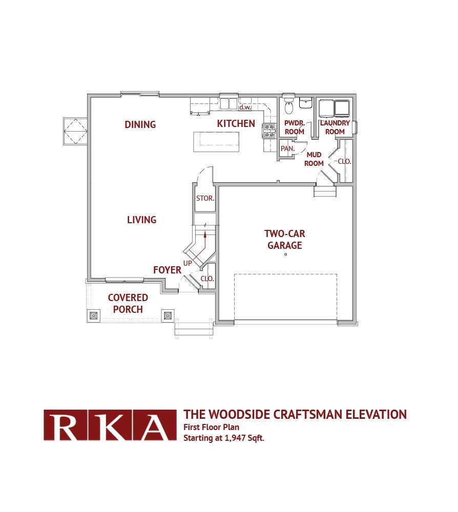 The Woodside III 1st Floor Plan