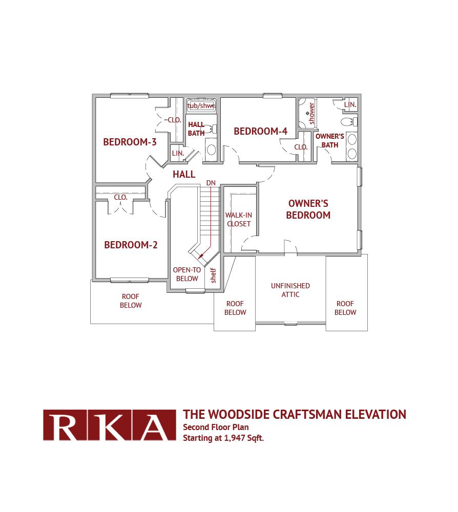 The Woodside III 2nd Floor Plan