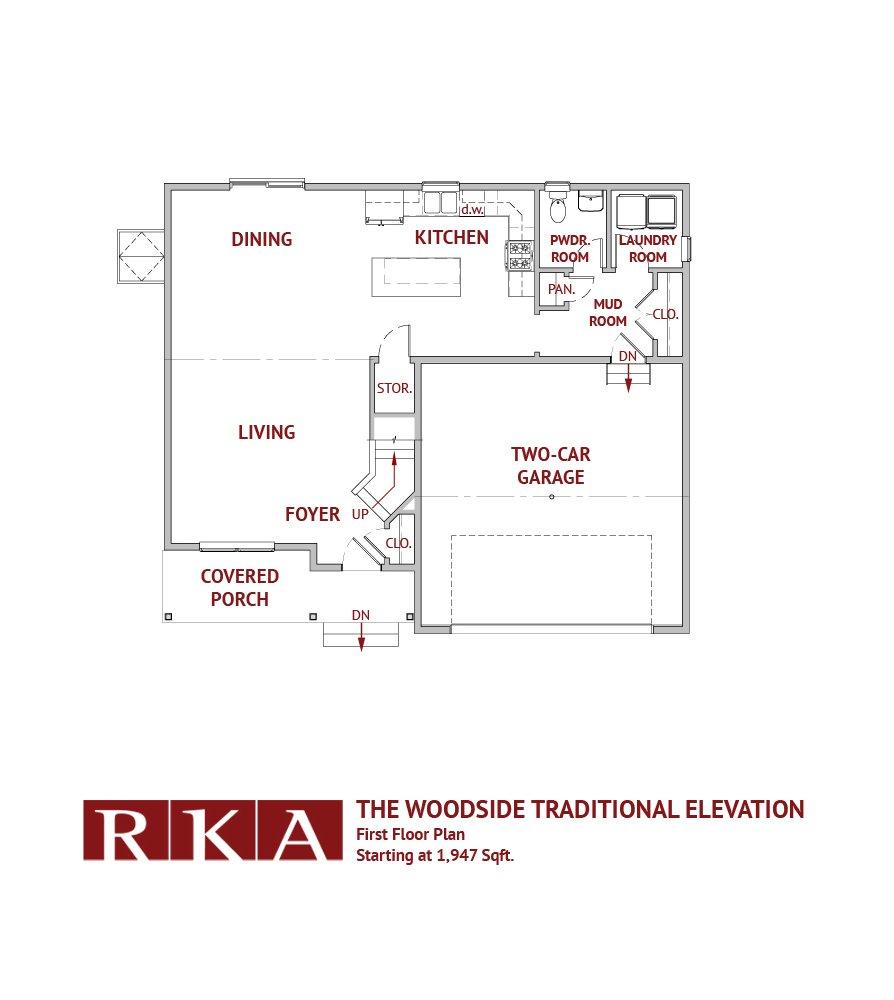 The Woodside I 1st Floor Plan