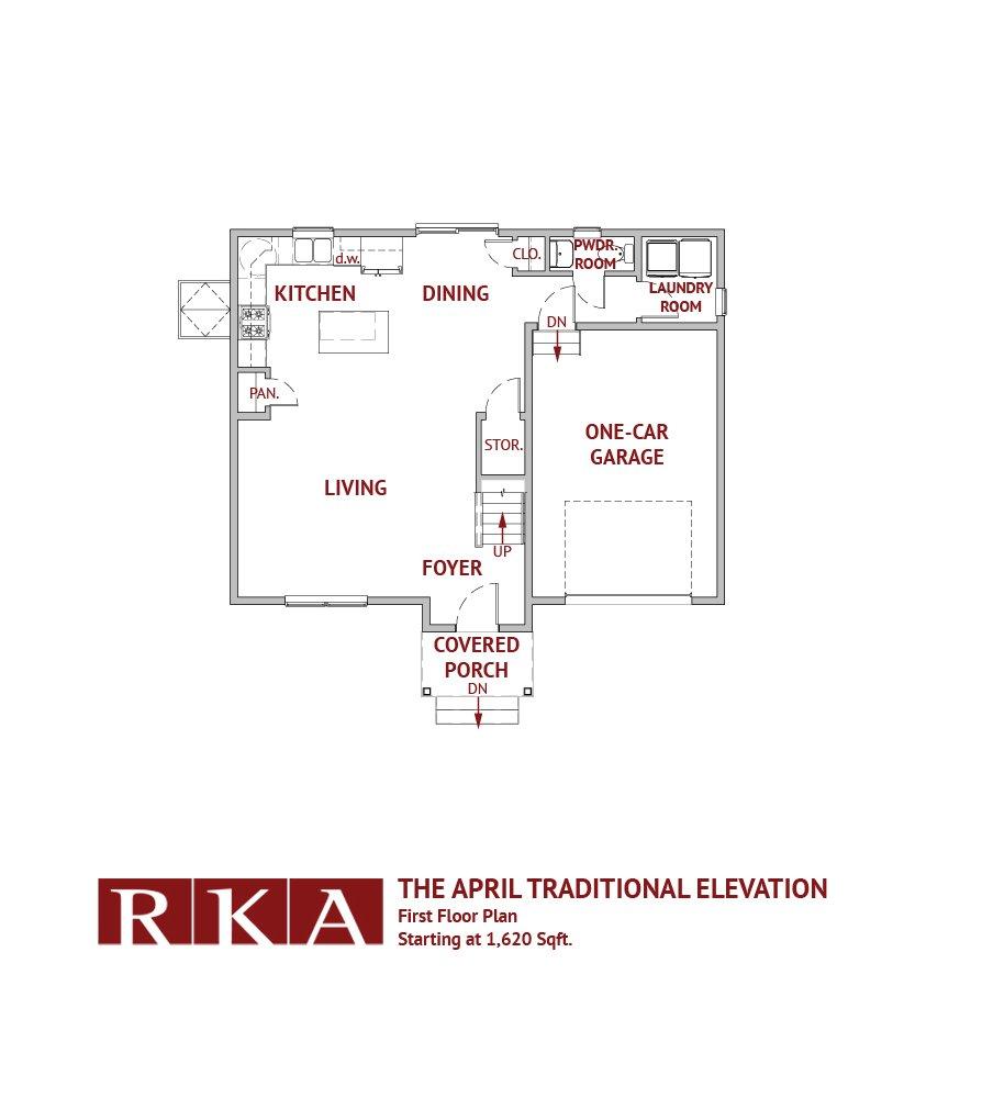 The April I Home Design 1st Floor Plan