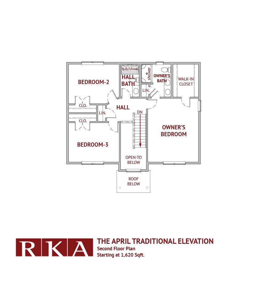 The April I Home Design 2nd Floor Plan