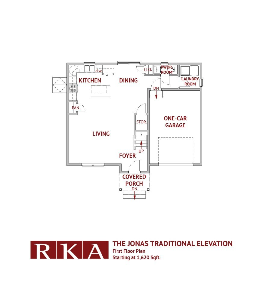 The Jonas I Home Design 1st Floor Plan