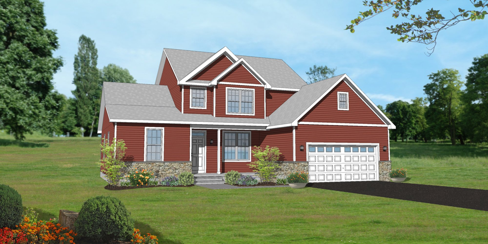 The Calcedonia Traditional Elevation Home Design