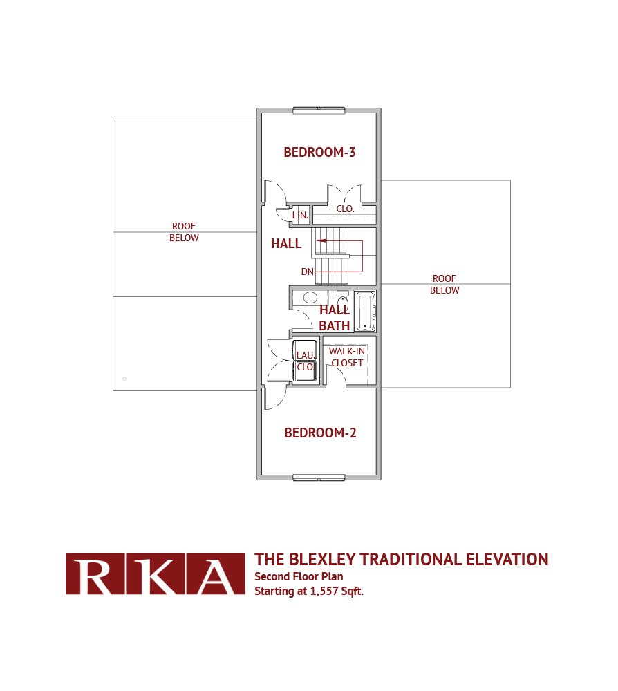 The Blexley Traditional Elevation 2nd Floor Plan