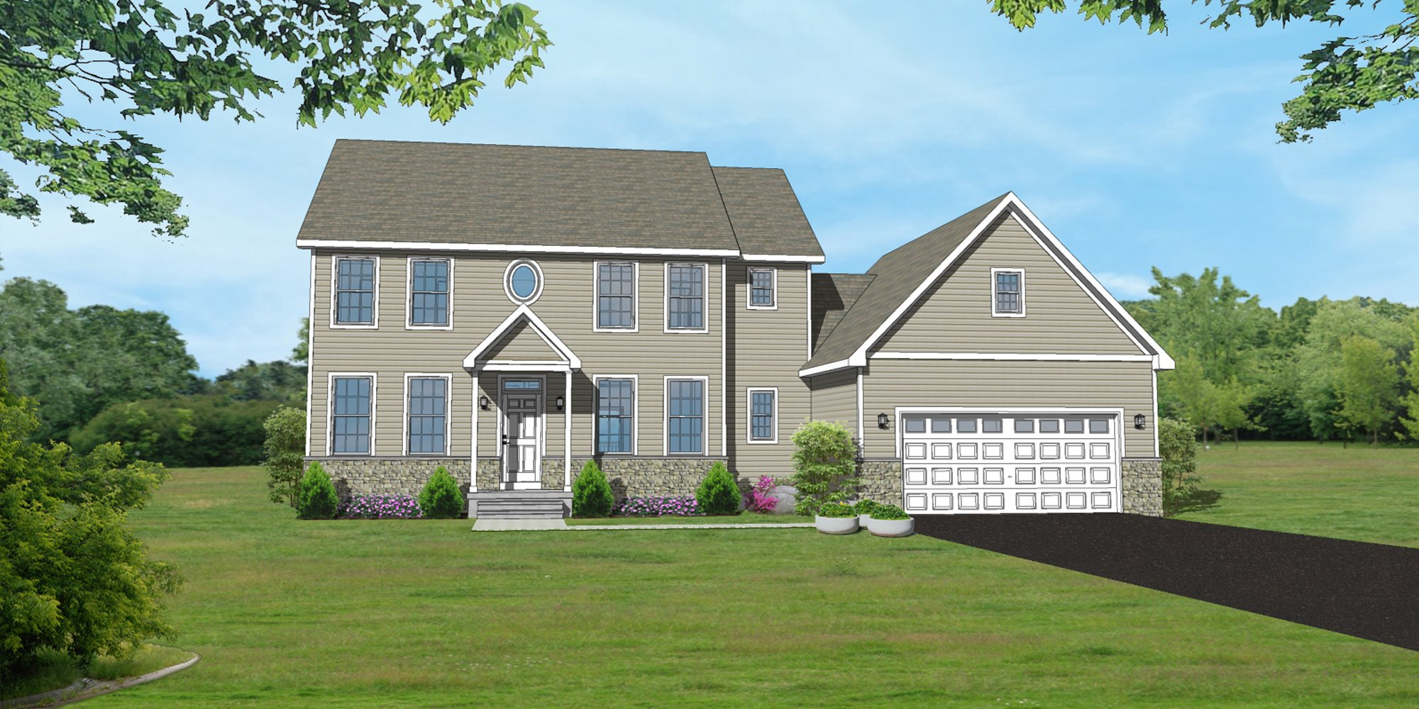 The McMichael Traditional Elevation Home Design